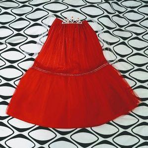 Girls Red Tutu & Tiara size 6 - 6X handmade